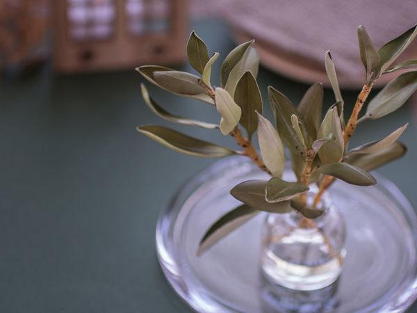 Создание веточек оливы для бутоньерки из фоамирана | Ярмарка Мастеров - ручная работа, handmade