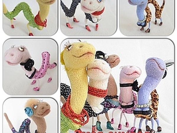 Валяем змеек - Символ 2013 года! | Ярмарка Мастеров - ручная работа, handmade