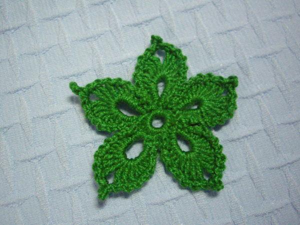 Вяжем цветок для ирландского кружева | Ярмарка Мастеров - ручная работа, handmade