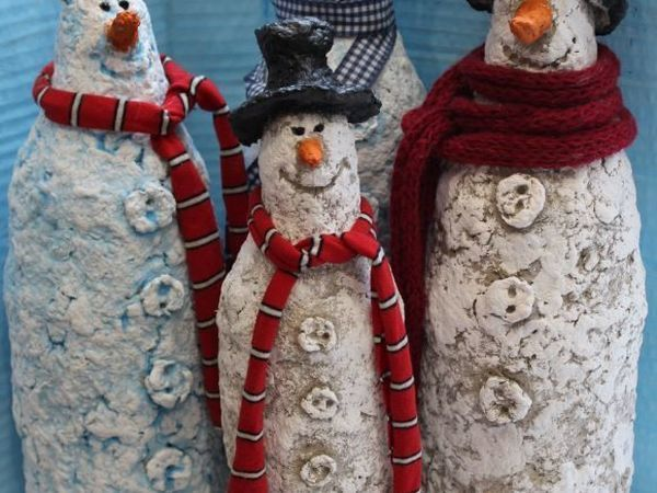 Создаем креативных снеговиков из папье-маше | Ярмарка Мастеров - ручная работа, handmade