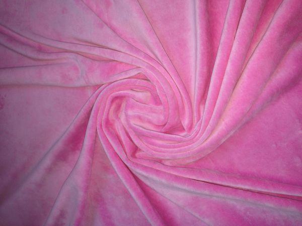 Розовый велюр и белая Рибана по невероятно низкой цене!!! | Ярмарка Мастеров - ручная работа, handmade