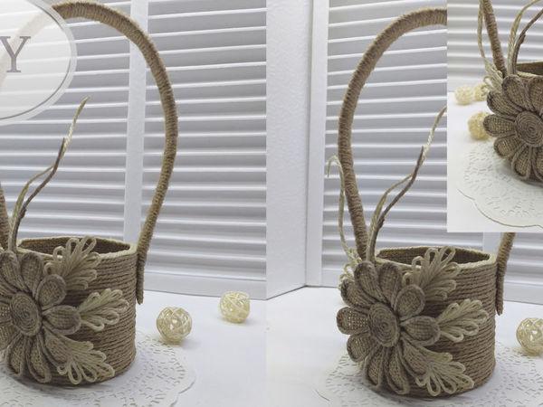 Корзина из джута (пасхальная идея)   Ярмарка Мастеров - ручная работа, handmade