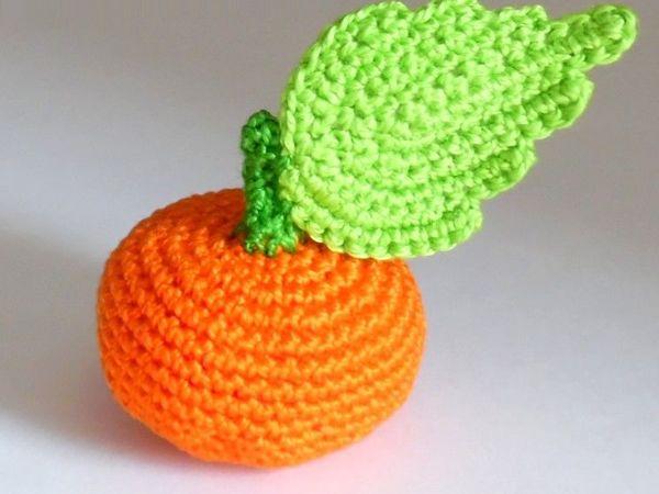 Как связать крючком мандарин | Ярмарка Мастеров - ручная работа, handmade