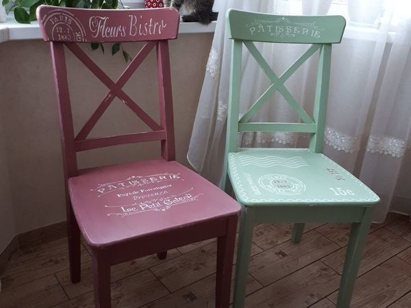 Декорируем стулья с помощью краски и трафаретов | Ярмарка Мастеров - ручная работа, handmade