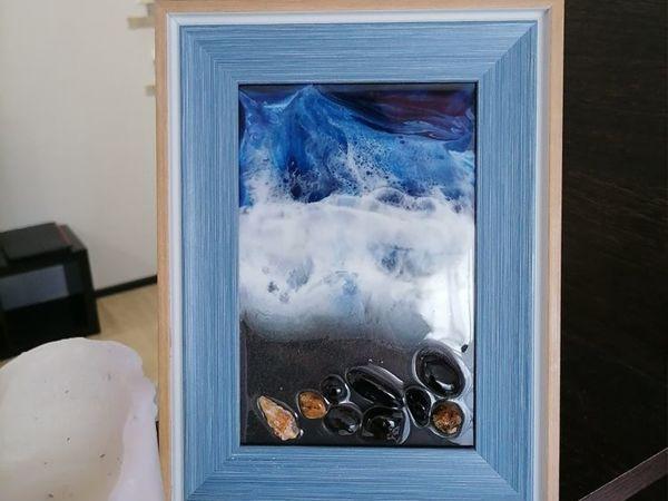 Море исландии в рамке | Ярмарка Мастеров - ручная работа, handmade