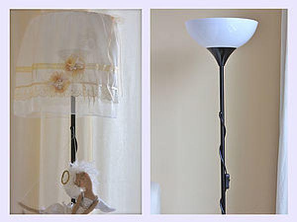 Романтичный абажур в спальню из лоскутка и горсточки ленточек! | Ярмарка Мастеров - ручная работа, handmade