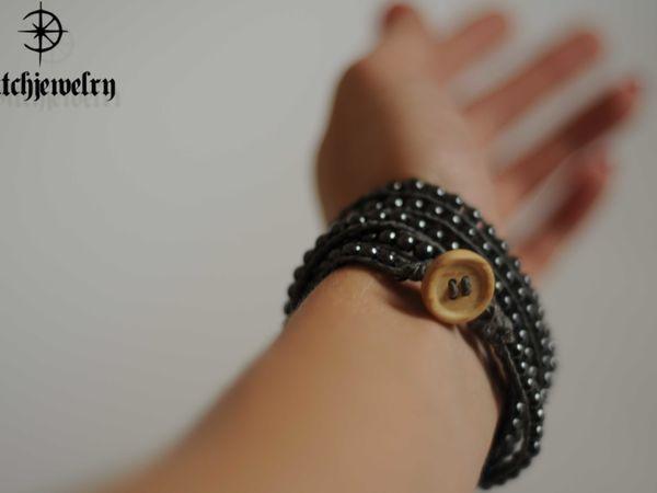 Плетем браслет Чан Лу с бусинами гематита | Ярмарка Мастеров - ручная работа, handmade