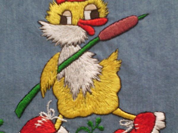 Мастер-класс: детская вышивка цветной гладью | Ярмарка Мастеров - ручная работа, handmade