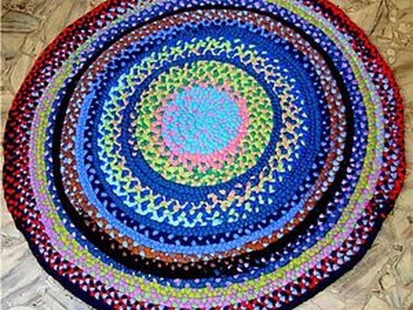 МК по созданию деревенского коврика из непряденной шерсти | Ярмарка Мастеров - ручная работа, handmade