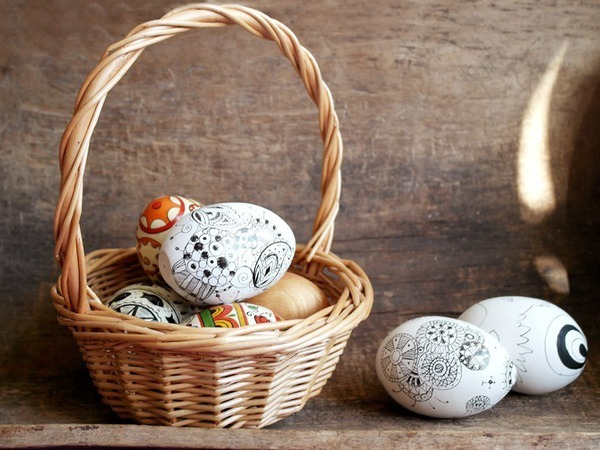 Зентангл к Пасхе | Ярмарка Мастеров - ручная работа, handmade