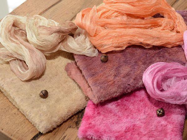Подарки от доМишки!!!! Вискоза ручной окраски, шелковый шарфик и бубенчик! | Ярмарка Мастеров - ручная работа, handmade