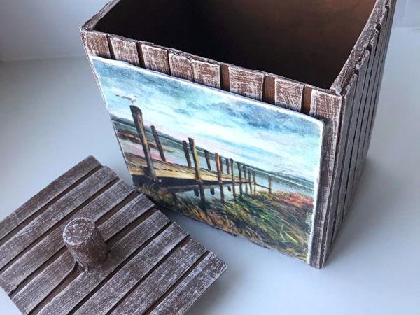 Переделываем и декорируем коробку из картона | Ярмарка Мастеров - ручная работа, handmade