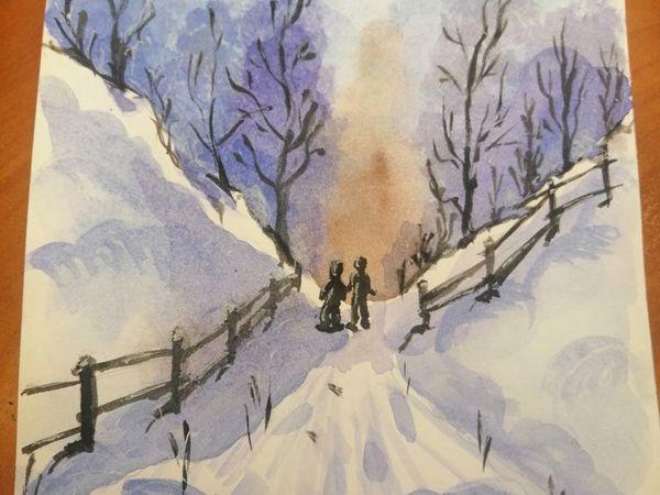 Зимняя прогулка   Ярмарка Мастеров - ручная работа, handmade