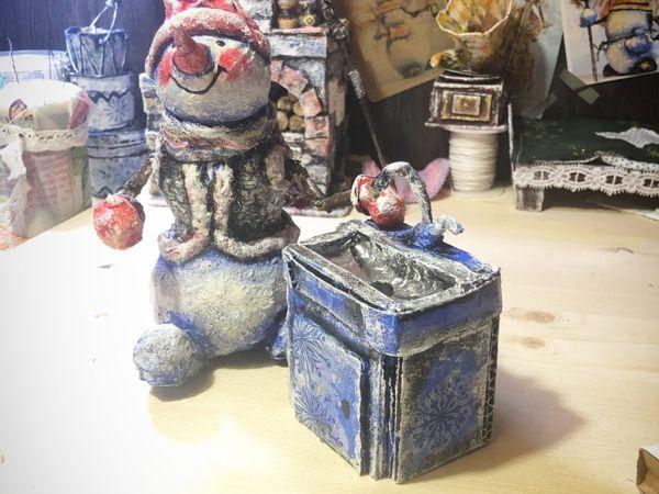 Создаём раковину для кукольного домика из картона   Ярмарка Мастеров - ручная работа, handmade