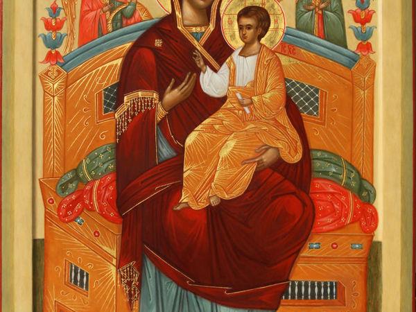 Икона Божией Матери Всецарица   Ярмарка Мастеров - ручная работа, handmade