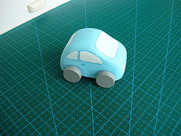 Машинка из картона   Ярмарка Мастеров - ручная работа, handmade