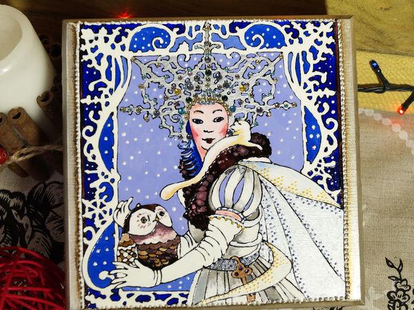 Роспись подарочной шкатулки «Сердце Снежной Королевы» | Ярмарка Мастеров - ручная работа, handmade