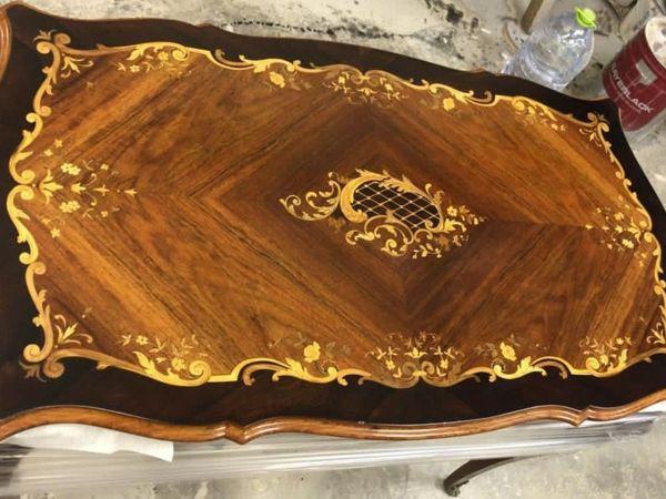 Реставрация антикварного стола с маркетри ручной работы   Ярмарка Мастеров - ручная работа, handmade