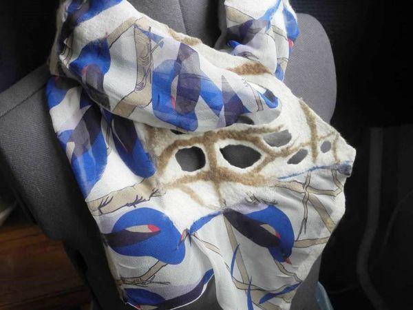 Раздвигаем «границы»: префельт —  еще один способ удлинить шарфик из короткого куска шелка | Ярмарка Мастеров - ручная работа, handmade
