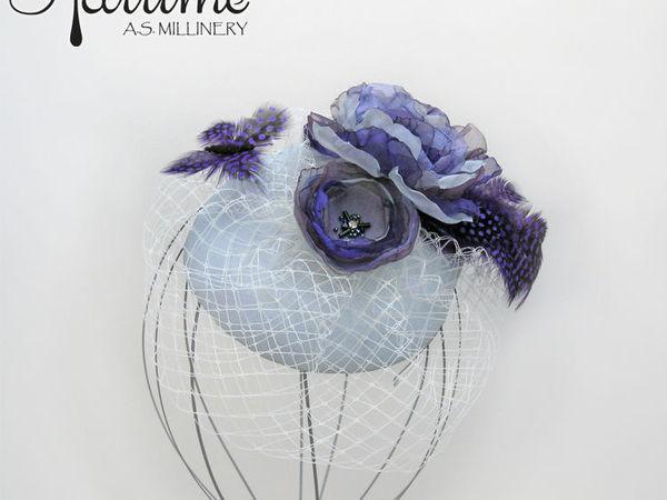 4f1c39ce4973 Создаем вечернюю шляпку с вуалью   Ярмарка Мастеров - ручная работа,  handmade