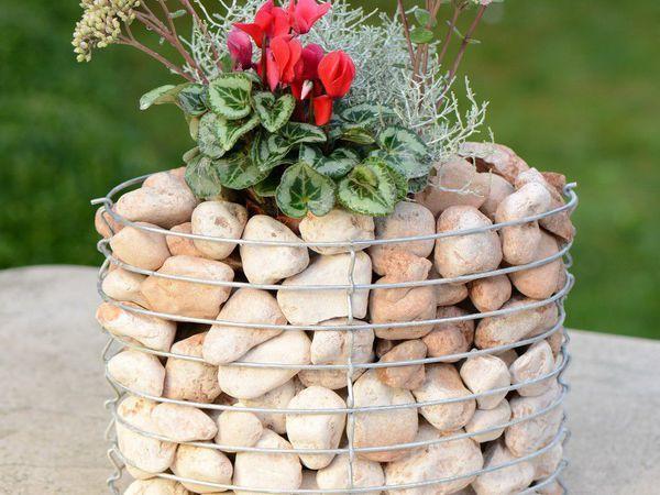Габионы — необычные  цветники из сетки и камня   Ярмарка Мастеров - ручная работа, handmade