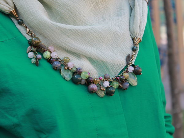 How to Make a Scarf Necklace with a Detachable Dryad Bracelet | Livemaster - handmade