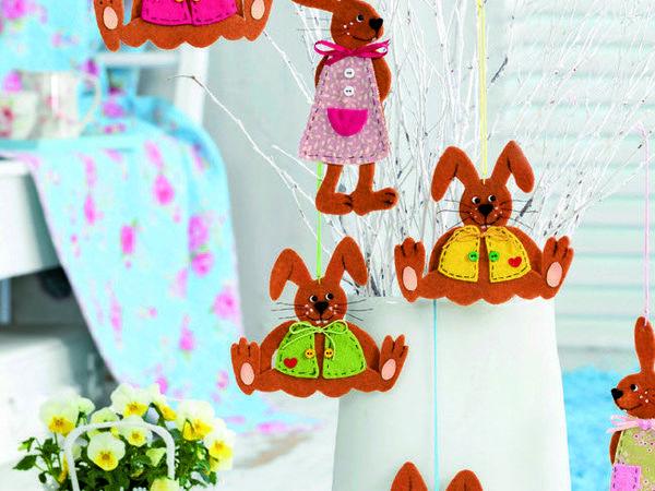 Декор для детской своими руками: делаем зайчиков из фетра | Ярмарка Мастеров - ручная работа, handmade