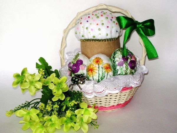 Шьём пасхальный кулич и украшаем вышивкой текстильные яйца | Ярмарка Мастеров - ручная работа, handmade