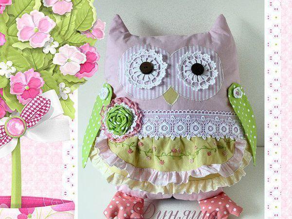 Шьем нежную совушку-подушку | Ярмарка Мастеров - ручная работа, handmade