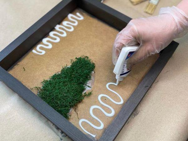 Картина из мха и растений своими рукам | Ярмарка Мастеров - ручная работа, handmade