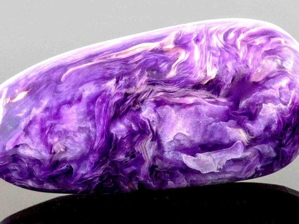 Редкий камень чароит | Ярмарка Мастеров - ручная работа, handmade