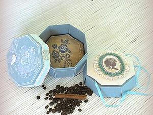 Мастер-класс: восьмигранная коробочка с двойным дном   Ярмарка Мастеров - ручная работа, handmade