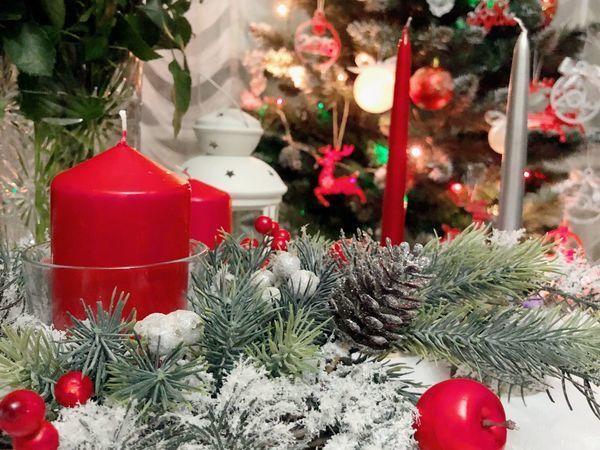 Создаем рождественскую композицию   Ярмарка Мастеров - ручная работа, handmade