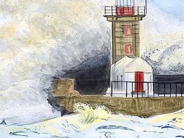 Рисуем акварелью штормовое море | Ярмарка Мастеров - ручная работа, handmade