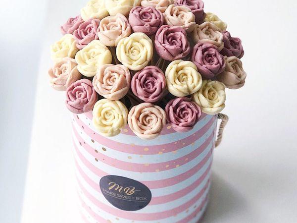 Шоколадные цветы своими руками | Ярмарка Мастеров - ручная работа, handmade