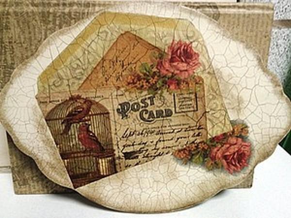 «Винтажное настроение». Работаем с кракелюрной парой Maimeri 739-740 | Ярмарка Мастеров - ручная работа, handmade