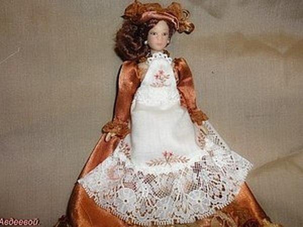 Одежда для кукол .Фартучек.   Ярмарка Мастеров - ручная работа, handmade
