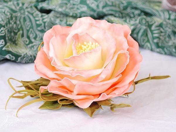 Новинка нашей студии! Цветы из фоамирана: Роскошная роза! | Ярмарка Мастеров - ручная работа, handmade