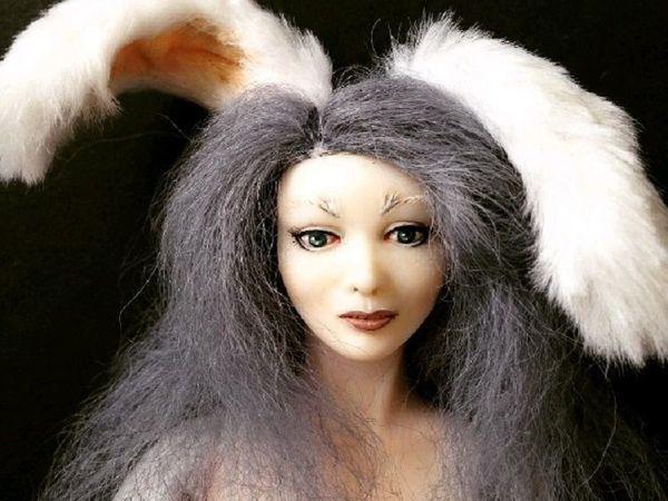 Создаем будуарную куклу Сюзетт серый кролик. Часть 1 | Ярмарка Мастеров - ручная работа, handmade