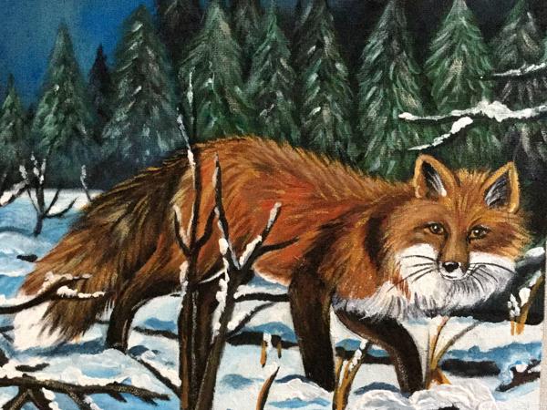 Аукцион на Набор Купонов  «Forest Fox». Ручная роспись   Ярмарка Мастеров - ручная работа, handmade