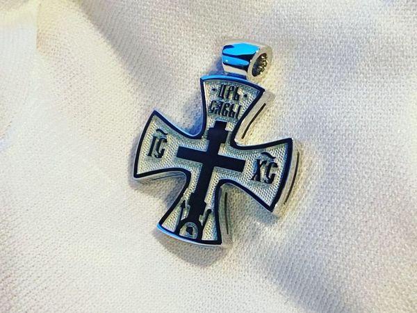 Крест из белого золота | Ярмарка Мастеров - ручная работа, handmade
