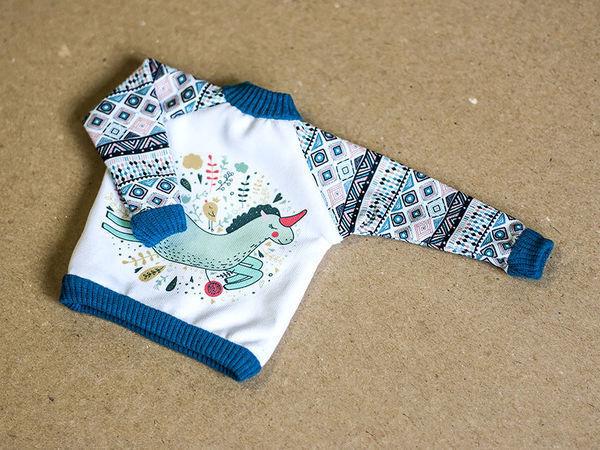 Свитшот для куклы: шьем стильную обновку   Ярмарка Мастеров - ручная работа, handmade