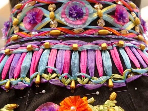 Наряд, вышитый рафией, из новой коллекции Dolce&Gabbana | Ярмарка Мастеров - ручная работа, handmade