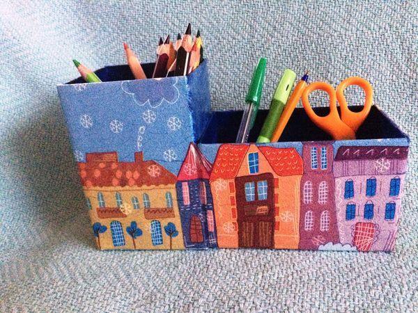 Карандашница. Это просто!!! | Ярмарка Мастеров - ручная работа, handmade
