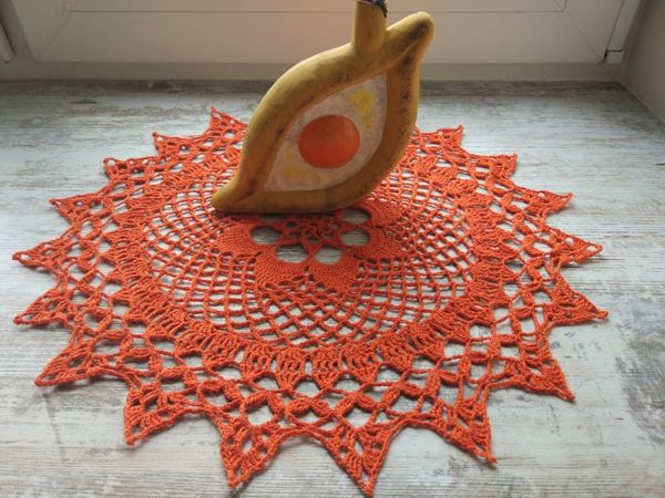 Салфетка  «Солнышко в гостях» | Ярмарка Мастеров - ручная работа, handmade