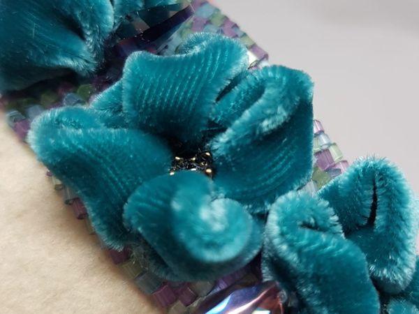 Вышиваем элемент — цветок из бархата | Ярмарка Мастеров - ручная работа, handmade