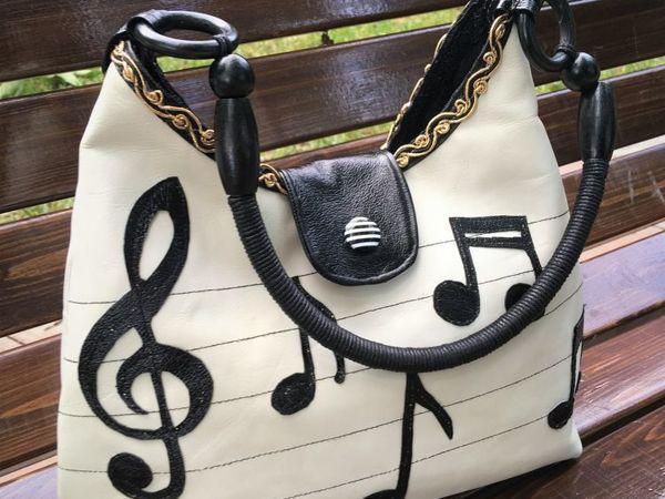 Шьем женскую кожаную сумку  «Ноты» | Ярмарка Мастеров - ручная работа, handmade