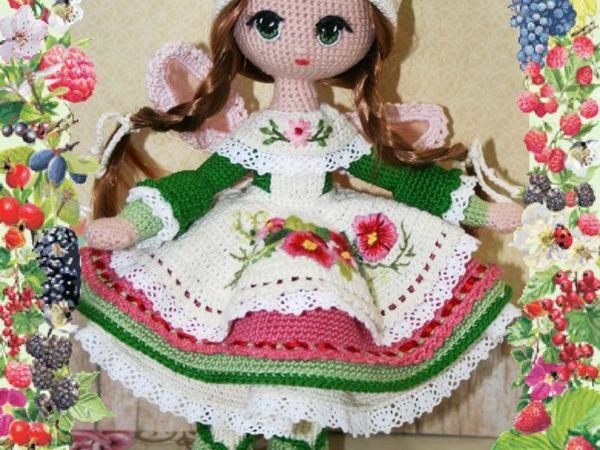 Кухонная фея- покровительница пирожков и булочек, куколка-амигуруми   Ярмарка Мастеров - ручная работа, handmade