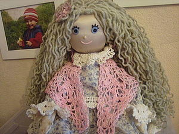 Кукольная ажурная шаль | Ярмарка Мастеров - ручная работа, handmade
