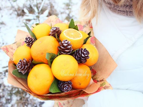 DIY Christmas Bouquet of Tangerines | Livemaster - handmade